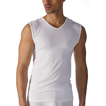 Mey 42537 Men's Software White Micromodal V-Neck Tank Vest Top