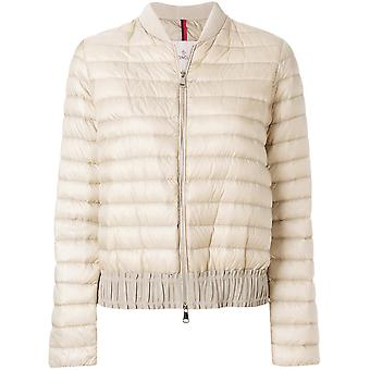 MONCLER women's 453179953048207 beige nylon Quilted Jacket