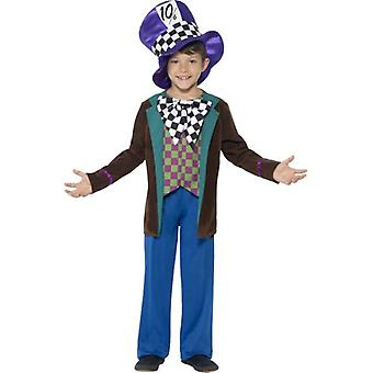 Smiffys Deluxe Hatter Costume Blue With Jacket Trousers & Hat