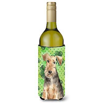 Botella de vino Beverge aislador Hugger de tréboles Welsh Terrier