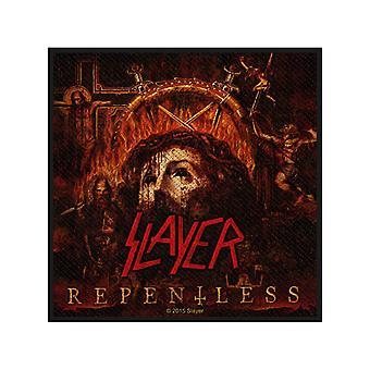 Slayer Patch Repentless Band Logo Official New Black Woven Cotton (10cm x 10cm)