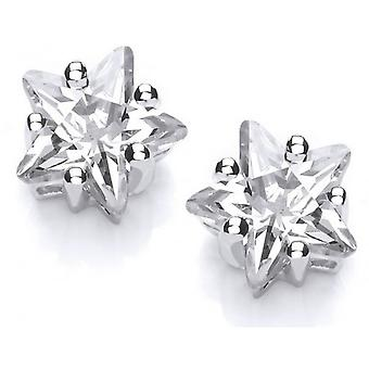 Cavendish French Sterling Silver Star Earrings - Silver