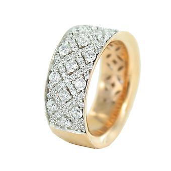 ESPRIT Дамы коллекции Кольцо серебро розовых ELRG92347A180 18 гр Мегары