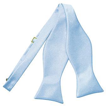 Bebé azul llano satén ata la corbata de lazo