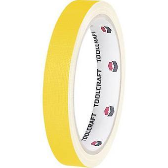 TOOLCRAFT HEB19L10GC Cloth tape HEB19L10GC Yellow (L x W) 10 m x 19 mm 1 Rolls