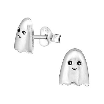 Ghost - 925 Sterling Silber Plain Ohrstecker - W28244x