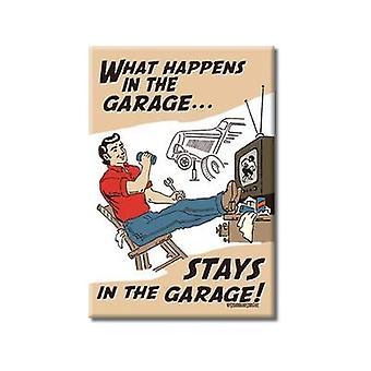 Was passiert In der Garage-lustige Kühlschrank-Magnet