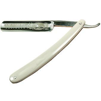 Rasiermesser traditionell, Schalen aus weißem Kunststoff, Nassrasur