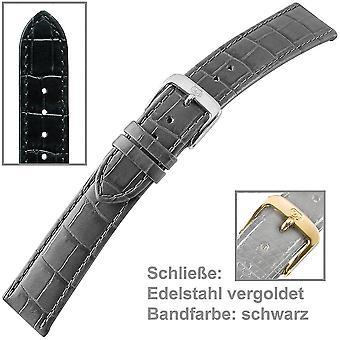 sort urrem armbånd for dig-rem af damer Herre ur 16 mm
