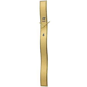 Quartz wall clock wall clock quartz gold design leatherette application