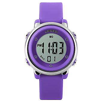 Skmei Girls Purple Digital Watch 50m Water Resistant With Stopwatch Alarm Ages 5+ DG1100