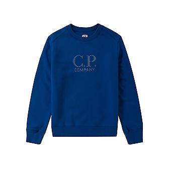 C.P. Company Undersixteen C.P. Company Undersixteen Royal Blue Reflective Logo Sweatshirt