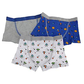 Kinderen door Tom Franken jongens Outer Space Trunks (pak van 3)