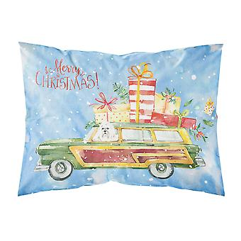 Merry Christmas Maltese Fabric Standard Pillowcase