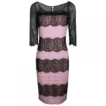 Dress Code By Veromia Lace Panel Long Sleeve Dress