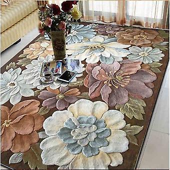 سجاد الصوف كبيرة الحجم صالون غرفة المعيشة غرفة نوم التطريز الكلاسيكية فن السجاد زخرفة الكلمة البساط الأزهار السجاد