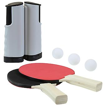 Charles Bentley istantanea ping pong impostare 2 pipistrelli 3 palle netto 1 Ping Pong 2 Player impostato retrattile ovunque