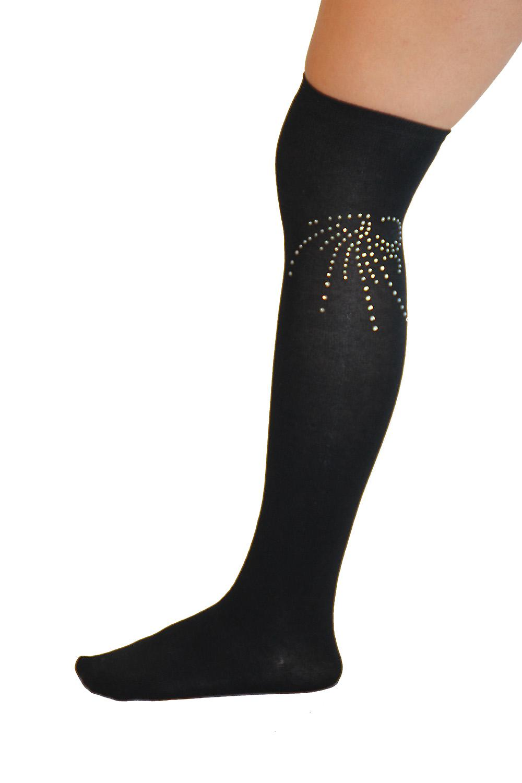 Waooh - Fashion - high socks with rhinestones