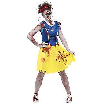 Zombie Miss Snow Costume, Teen XS