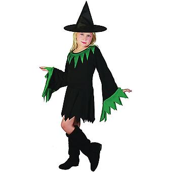Witch Black/Green (Hat Included), Large.