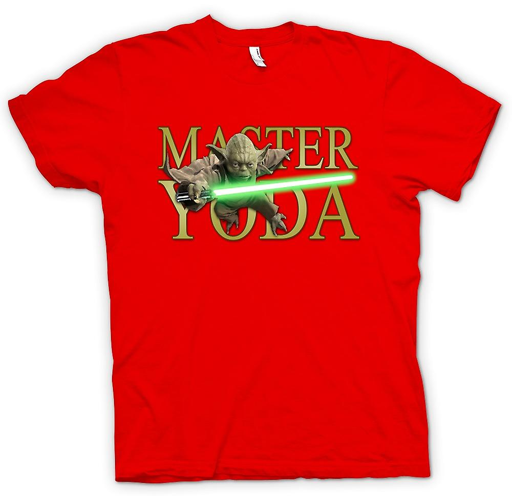 Mens T-shirt - Meister Yoda - Jedi - Star Wars - Film