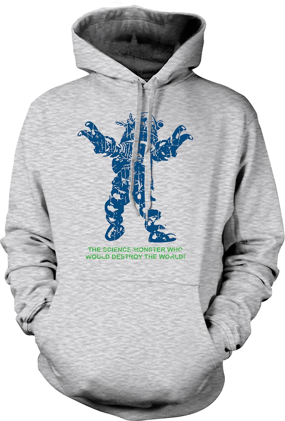 Mens Hoodie - Science monstre Détruisez Monde - Sci Fi