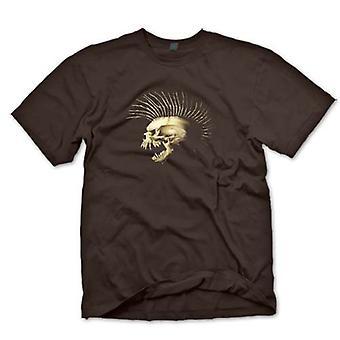 Mens T-shirt-Punk Skull mit Dornen