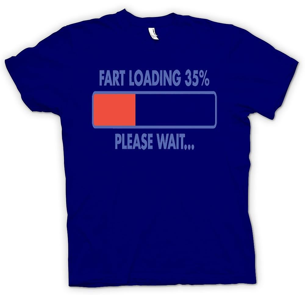Heren T-shirt - Fart Loading 35%, Please Wait - Quote