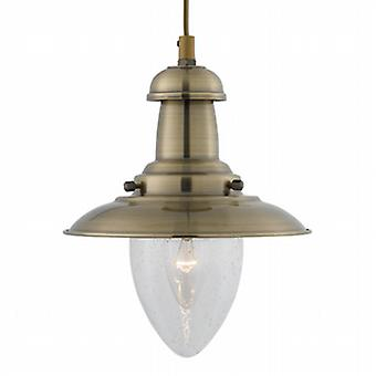 5787AB Fisherman Antique Brass Single Pendant Light