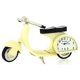 Miniature Scooter Novelty Cream Tone Classic Vespa - Collectors Clock 9088