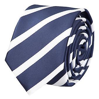 Krawat krawat krawat krawat wąski 6cm niebieski/biały paski Fabio Farini