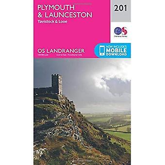 Landranger (201) Plymouth & Launceston, Tavistock & Looe (OS Landranger mappa)