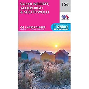 Landranger (156) Saxmundham, Aldeburgh & Southwold (OS Landranger mapa)