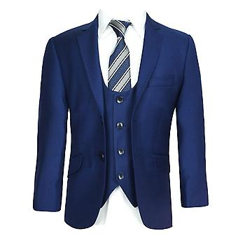 Boys All in One Slim Fit Parliament Blue Suit