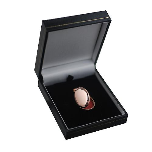 9ct Rose Gold 27x20mm plain oval Locket