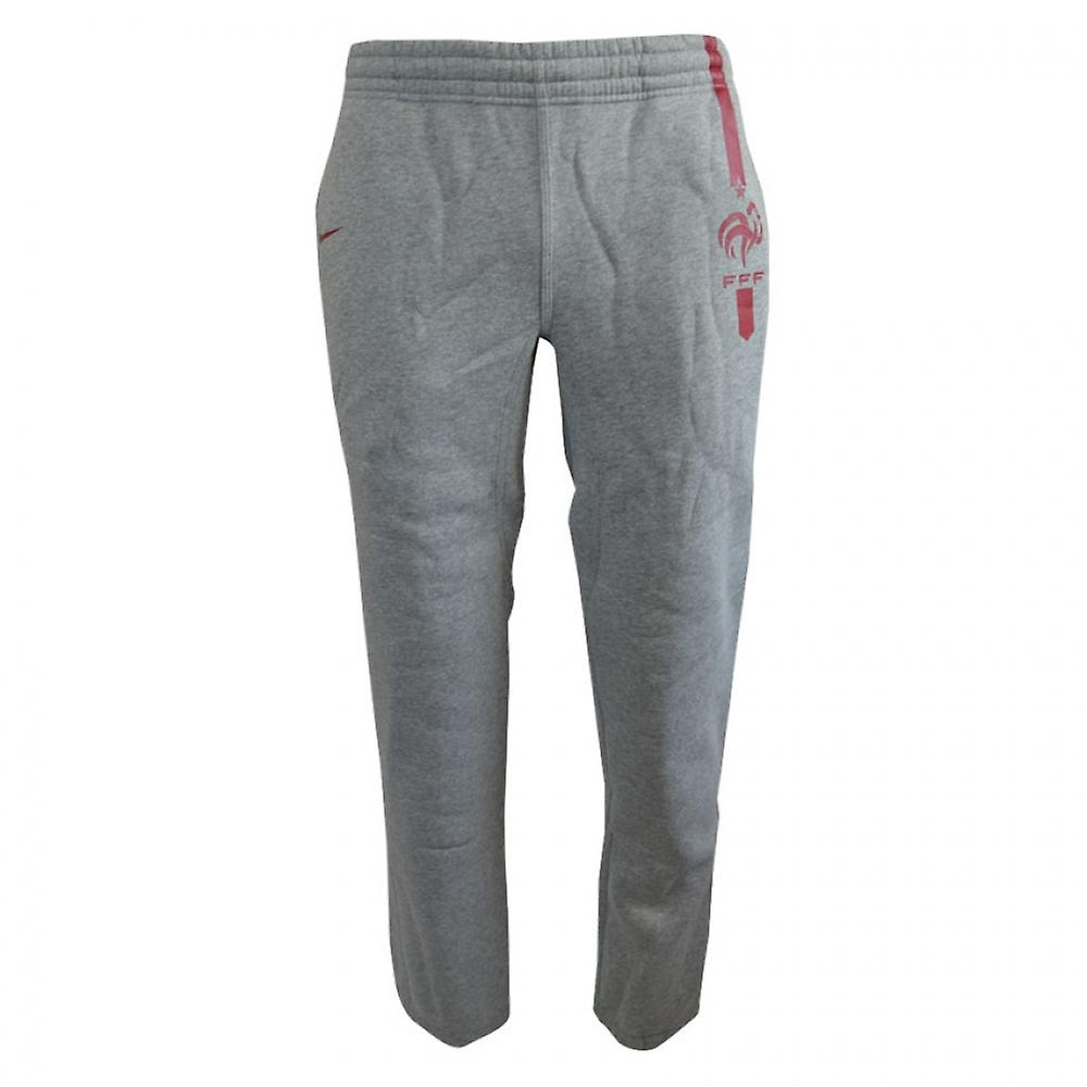 2015-2016 France Nike Core Cuff Fleece Pants (Grey)
