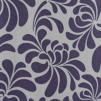 Glitter Wallpaper Floral Embossed Vinyl Sparkle White Purple Paste The Wall
