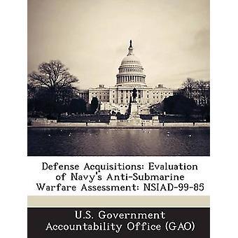 تقييم المقتنيات الدفاع نفيس حرب مضادة التقييم NSIAD9985 بمكتب المحاسبة الحكومي الأمريكي ز