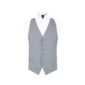 Dobell Mens Dove Grey Backless Morning Suit Wedding Waistcoat Regular Fit
