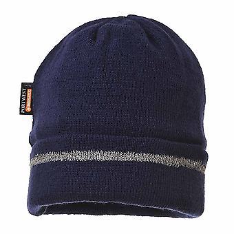 sUw - refleksyjne wykończenia dzianiny kapelusz Insulatex drzewami Navy regularne