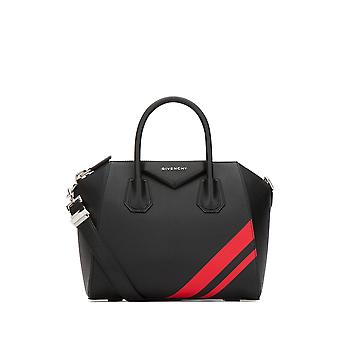 Givenchy Antigona Small Black Leather Shoulder Bag