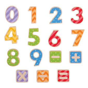 Bigjigs Toys Educational Wooden Magnetic Numbers Magnet Fridge Board