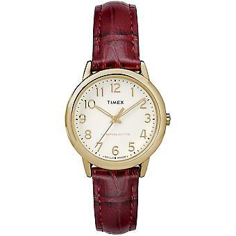 Timex-klokken lett leser 30 mm Lær armbånd TW2R65400