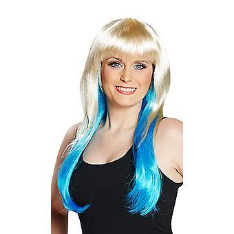 Peggy blauwe pruik