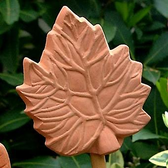 Terracotta Leaf cane toppers - set of 6