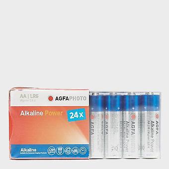 Nouveau AgfaPhoto Alkaline Power AA Batteries 24 Pack Blue