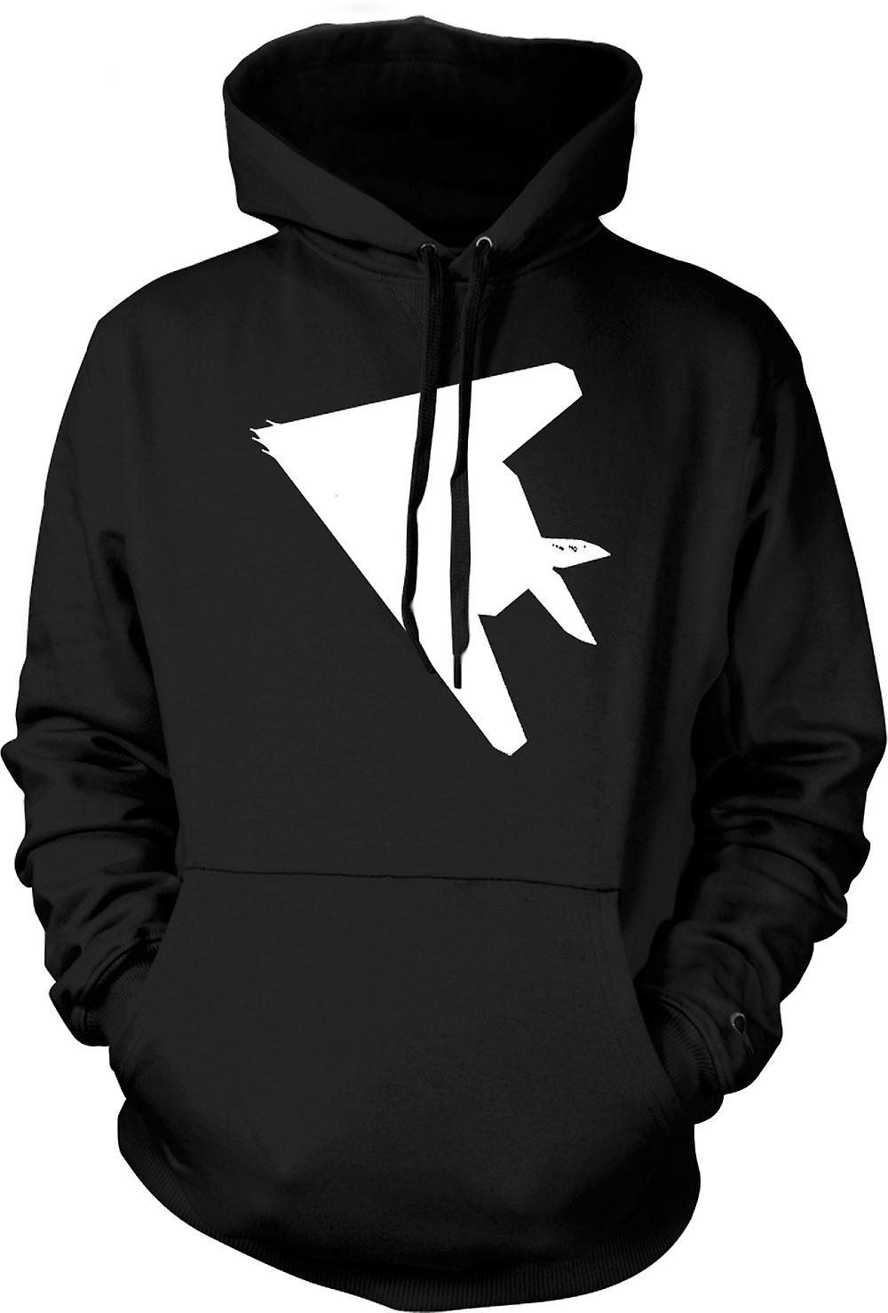 Mens Hoodie - Lockheed F-117 Nighthawk - Stealth Fighter Underside
