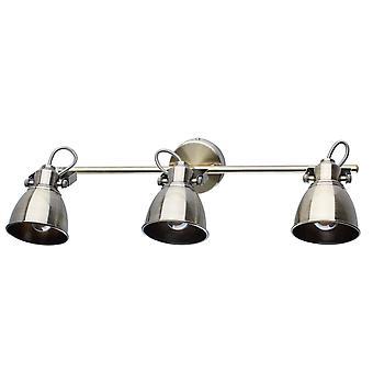 Glasberg - cafés et or trois lumière projecteur réglable sur barre 547020803