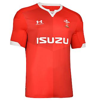 Under Armour Wales 2019/20 Mens Home Replica Rugby Union Jersey Shirt Red