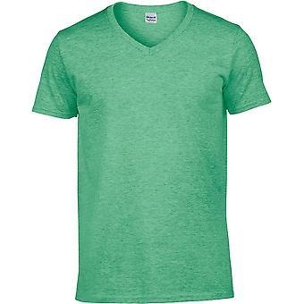 Gildan-Softstyle V-hals mens T-shirt